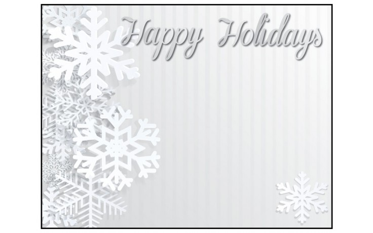 Personalized Greeting Card - Happy Holidays