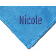 Luxury Plush Competition Blanket - Sky Blue with Personalization