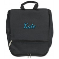 Hanging Cosmetic Case - Black with Personalization