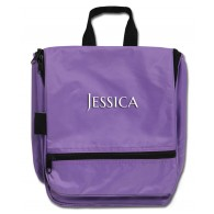 Hanging Cosmetic Case - Purple with Personalization