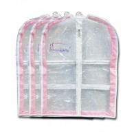 Short Gusseted Garment Bag - 3-Pack