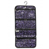 Hanging Accessory Roll - Purple Hearts