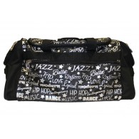 Dance Gym Bag - Silver Graffiti