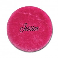 Folding Stool Cover - Pink with Personalization