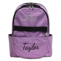 Backpack - Purple Sparkle with Personalization