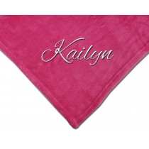 Luxury Plush Competition Blanket - Pink with Personalization