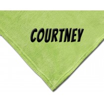 Luxury Plush Competition Blanket - Lime Green with Personalization