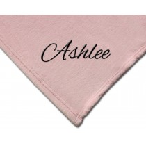 Luxury Plush Competition Blanket - Light Pink with Personalization