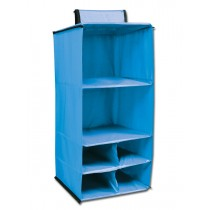 6 Pocket Hanging Accessory Caddy - Blue