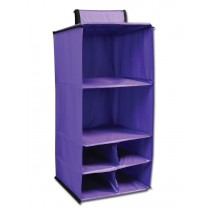 6 Pocket Hanging Accessory Caddy - Purple