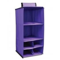 6 Pocket Hanging Accessory Caddy - Purple