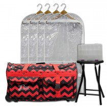 Limited Edition - Large - Red Chevron - Deluxe Package