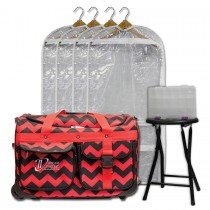 Limited Edition - Medium - Red Chevron - Deluxe Package