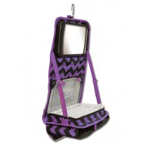 The Attitude® Hanging Accessory Case - Purple Chevron