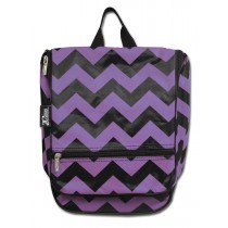 Hanging Cosmetic Case - Purple Chevron