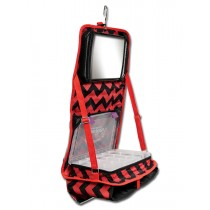 The Attitude® Hanging Accessory Case - Red Chevron
