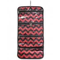Hanging Accessory Roll - Red Chevron