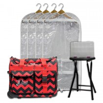 Limited Edition - Small - Red Chevron - Deluxe Package