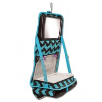The Attitude® Hanging Accessory Case - Teal Chevron