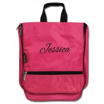 Hanging Cosmetic Case - Pink with Personalization