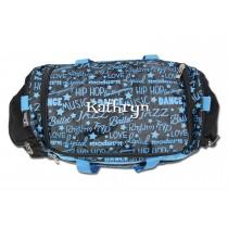 Dance Gym Bag - Blue Graffiti with Personalization