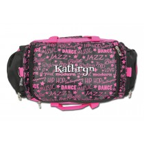 Dance Gym Bag - Pink Graffiti with Personalization