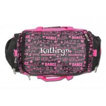 Dance Gym Bag - Pink Graffiti with Personalization