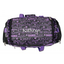 Dance Gym Bag - Purple Graffiti with Personalization