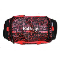 Dance Gym Bag - Red Graffiti with Personalization