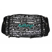 Dance Gym Bag - Silver Graffiti with Personalization