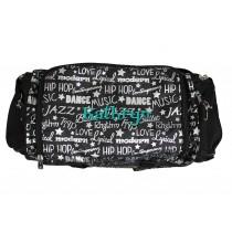 Dance Gym Bag - Silver Graffiti with Personalization