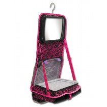 The Attitude® Hanging Accessory Case - Pink Hearts