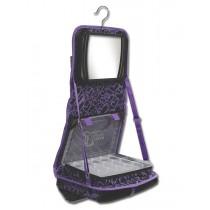 The Attitude® Hanging Accessory Case - Purple Hearts