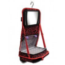 The Attitude® Hanging Accessory Case - Red Hearts