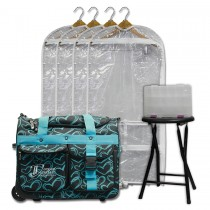 Limited Edition - Small - Teal Hearts - Deluxe Package