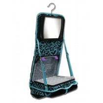 The Attitude® Hanging Accessory Case - Teal Hearts