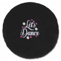 Stool Cover-Black-Dance First Everything Else Later