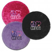 Folding Stool Cover - Peace Love Dance