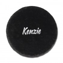 Folding Stool Cover - Black with Personalization