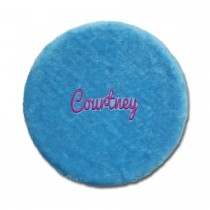 Folding Stool Cover - Blue with Personalization