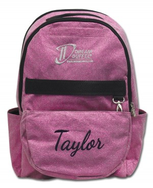 Backpack - Pink Sparkle with Personalization