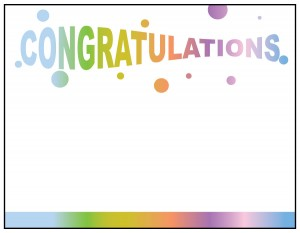 Personalized Greeting Card - Congratulations