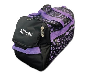 Factory Second Dance Gym Bag - Purple Graffiti with Personalization