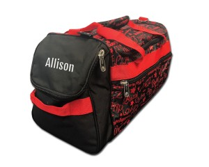 Factory Second Dance Gym Bag - Red Graffiti with Personalization