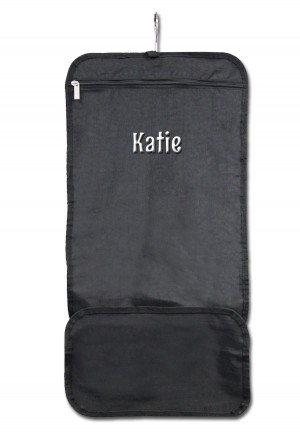 Hanging Accessory Roll - Black with Personalization