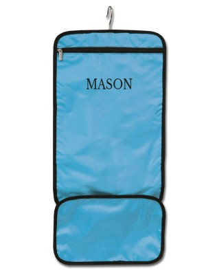 Hanging Accessory Roll - Blue with Personalization