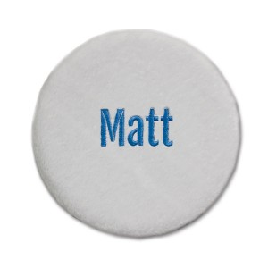 Folding Stool Cover - White with Personalization
